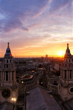 Preview iPhone wallpaper London, city, dusk, houses, UK