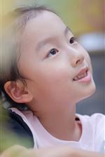 Lovely little girl, hazy