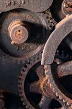 Preview iPhone wallpaper Machines, gears, rust