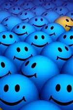 Preview iPhone wallpaper Many blue smile face, design