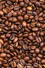 Preview iPhone wallpaper Many coffee beans, texture background