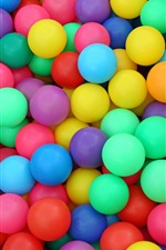 Preview iPhone wallpaper Many colorful play balls