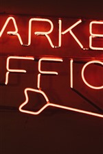 Preview iPhone wallpaper Market Office road sign, neon