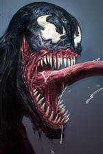 Vorschau des iPhone Hintergrundbilder Marvel Comics, Venom, Kunstbild