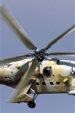 Preview iPhone wallpaper Mi-35P attack helicopter