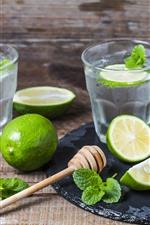 Preview iPhone wallpaper Mojito, drinks, green lemon
