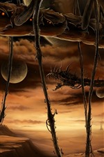Monster, planet, art picture