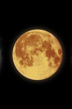 iPhone обои Луна, спутник, пространство, черный фон