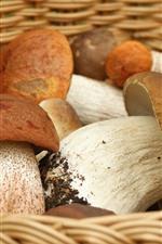 Preview iPhone wallpaper Mushrooms, basket