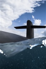 Preview iPhone wallpaper Navy, submarine, sea, water