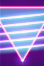Preview iPhone wallpaper Neon triangle, abstract light