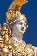 Preview iPhone wallpaper Pallas Athena, goddess statue, armor