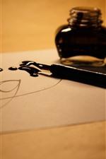 iPhone壁紙のプレビュー ペン、インク、紙
