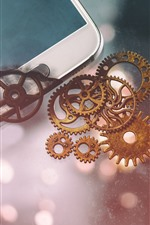 Preview iPhone wallpaper Phone and gears