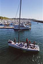 Pier, yachts, sea