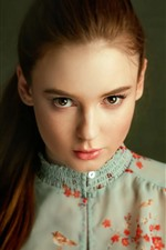 Preview iPhone wallpaper Pure young girl, hairstyle