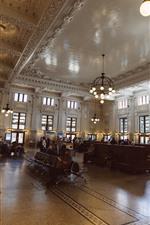 Railway station waiting hall
