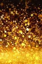 Preview iPhone wallpaper Rain, golden colors, shine