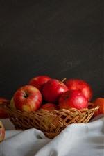 Preview iPhone wallpaper Red apples, berries, pumpkin