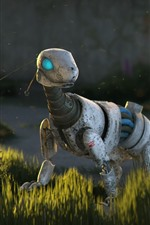 Preview iPhone wallpaper Robot animal, butterfly, grass, sci-fi