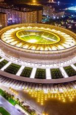 Preview iPhone wallpaper Russia, Kuban, Krasnodar, football stadium, night, lights