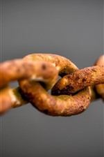 Preview iPhone wallpaper Rusty iron chain