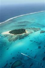 iPhone fondos de pantalla Saipan, isla, mar, vista superior