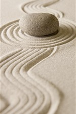 Preview iPhone wallpaper Sand, stone, still life