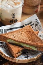 iPhone обои Бутерброды, еда, завтрак