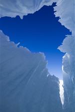 Preview iPhone wallpaper Sayram Lake, ice, Xinjiang