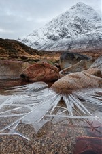 Preview iPhone wallpaper Scotland, mountain, rocks, ice, water
