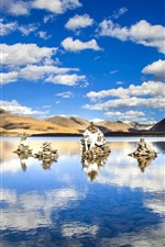 Preview iPhone wallpaper Sijinlacuo, lake, Tibet