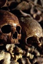 Preview iPhone wallpaper Skulls, bones, horror