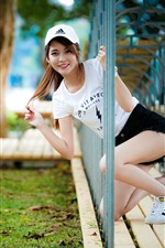 Preview iPhone wallpaper Smile Asian girl, channel