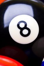 iPhone fondos de pantalla Billar de billar, bolas de colores
