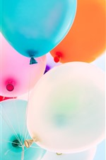 Preview iPhone wallpaper Some balloons, colorful, sky
