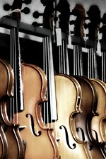 Preview iPhone wallpaper Some violins, music theme