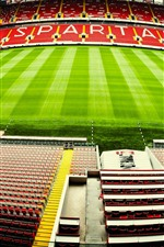 Preview iPhone wallpaper Spartak Stadium, football, meadow, Moscow, Russia