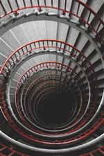 Preview iPhone wallpaper Spiral ladders, high