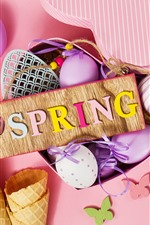 Preview iPhone wallpaper Spring, Easter eggs, decoration