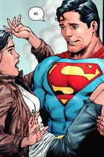 Preview iPhone wallpaper Superman and girl, DC comics