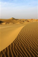 Preview iPhone wallpaper Taklamakan Desert, dune