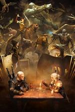 Preview iPhone wallpaper The Witcher 3: Wild Hunt, play cards