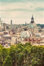 Preview iPhone wallpaper Travel to Rome, Italy, Europe, city view