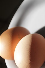 Preview iPhone wallpaper Two eggs, light, shadow