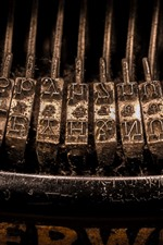 iPhone fondos de pantalla Fotografía macro de la máquina de escribir