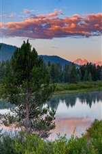 Preview iPhone wallpaper USA, Grand Teton National Park, lake, trees, mountains