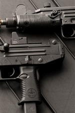 Preview iPhone wallpaper Uzi submachine gun, weapon