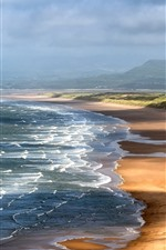 Preview iPhone wallpaper Wales, sea, coast, nature landscape