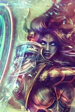 Preview iPhone wallpaper World of Warcraft, armor, paladin, girl, art picture